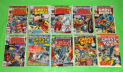Ghost Rider 1 VF 7.5 Friedrich signed COA - Marvel Spotlight 6 - 10 issue lot