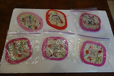 Chinese Paper - Parti Lanterns Vintage LOT OF 6  FREE SHIPPING