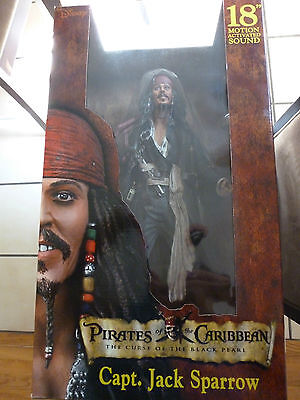 """Pirate Of The Caribbean 18"""" Capt.jack Sparrow Action Figure"""