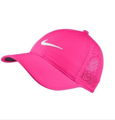 Nike Dri-Fit  Womens  H86  Perforated  Cap/Hat  Color Hyper Pink/White