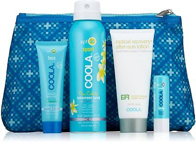 Four Piece Organic Suncare Travel Set, Coola,