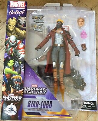 MARVEL SELECT GUARDIANS OF THE GALAXY STAR-LORD ACTION FIGURE Disney Store