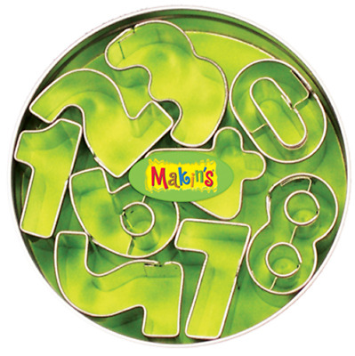 Makins Clay & Cookie Cutters - Numbers Clay Cutter Set S/9