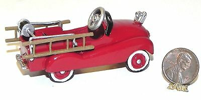 Dollhouse Miniature Toy Fire Truck Red Metal Falcon Minis 1:12 Scale