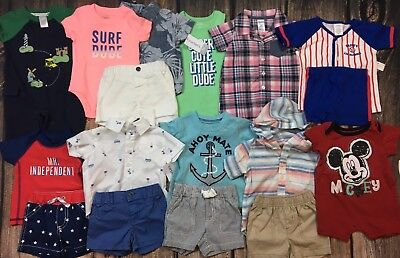 Lot Baby Boy Clothes Outfits Shorts Shirts Rompers Spring Summer 3 mo
