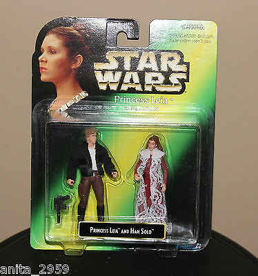 Vintage Star Wars Princess Leia Collection Leia And Han Solo-New-Kenner-1997