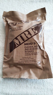 Mre U.s Ration Pack Menu 3, Military, Camping, Hiking, Fishing, Survival