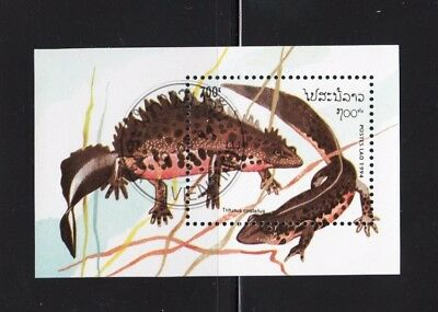 Northern crested Newt - Salamander - Small Souvenir Sheet