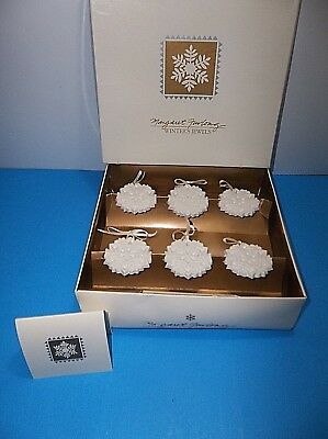 Margaret Furlong Winters Jewels SNOWFLAKE Ornaments Set Of 6 MIB Porcelain