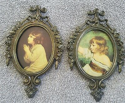 Vintage pictures picture frames Read Italy made lot of 2 (utbl3)