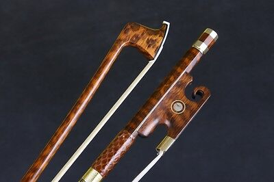 1pcs 4/4 Violin Bow Snakewood Straight Pretty inlay AAA horse hair Yinfente