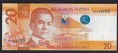 20 Peso Philippines NGC Solid serial SN# 999999 UNC