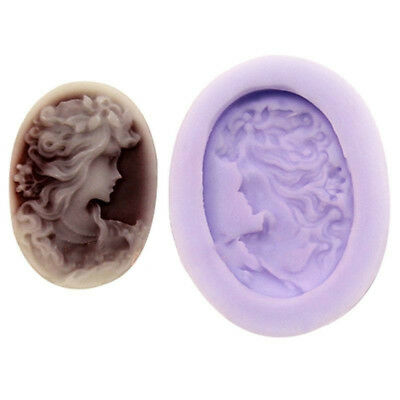 Lady Silicone Mould Mold for Polymer Clay Candy Cake Decorating Fondant Well