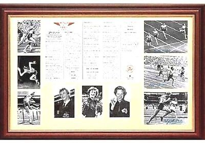Betty Cuthbert Shirley Strickland Marjorie Jackson Hand Signed Framed Print