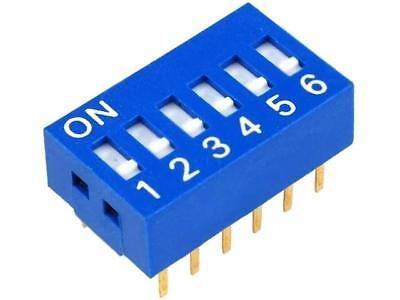 DSR-06 Switch DIP-SWITCH Poles number6 ON-OFF 0.05A/12VDC -20÷70°C