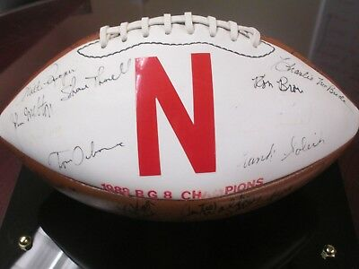 1988 Nebraska Team Signed Football
