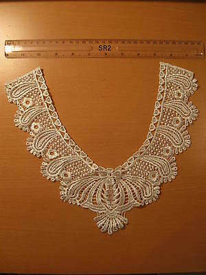 One Neckline Neck Collar Hearts Off White Lace Trim (L3)