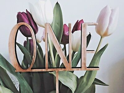 WOODEN TABLE NAME NUMBERS AS WORDS  For Wedding / Events / Parties SET OF 8
