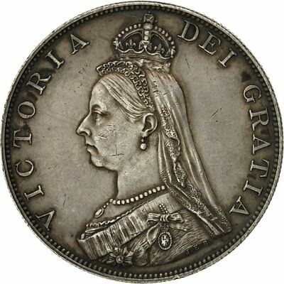[#481264] Great Britain, Victoria, Double Florin, 1887, AU(55-58), Silver