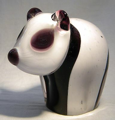 Wedgwood Glass Paperweight Panda