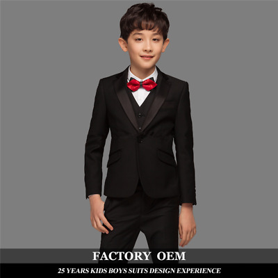 a87b0694ebfb Black Boy Wedding Suits Child Formal Dinner Party Groom Tuxedos Baby Kids  Suits