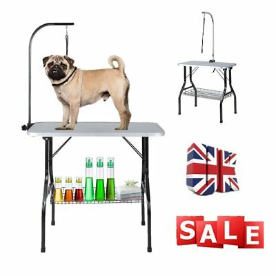 "Fold-able Steel Non-slip Portable Pet Dog Bathing Beauty Grooming Table 31"" Size"