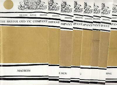 11 Bristol Theatre Programmes from 1969 (Theatre Royal)