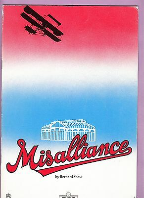 1986  Barbican Theatre Programme - MISALLIANCE - RICHARD McCABE - BRIAN COX