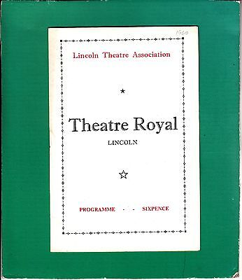 1960 Lincoln Theatre Programme - PENELOPE KEITH in The Potting Shed