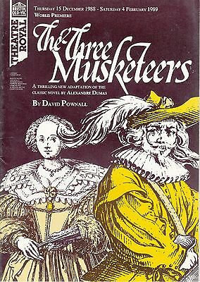 1988  Bristol Theatre Programme - THE THREE MUSKATEERS - JASON CONNERY