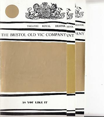 3 Bristol Theatre Programmes from 1970 (Theatre Royal)