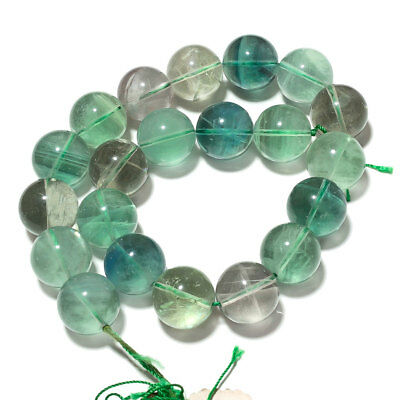 Natural Green Flourite Gemstone Round Beads 20mm Beads 14 Inches Strand SS1