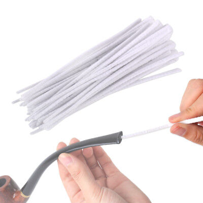 50 PCS Cotton Smoking Pipe Cleaners Smokers Tobacco Cleaning Tool Cotton tubes