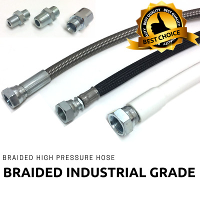 Braided Steam Oil Water High Pressure STAINLESS INSULATED HOSE, BSP FITTINGS P&P