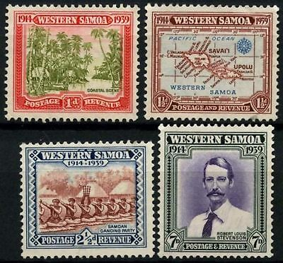 Samoa 1939 SG#195-8, 25th Anniv Of NZ Control Unused? No Gum Set #D57899