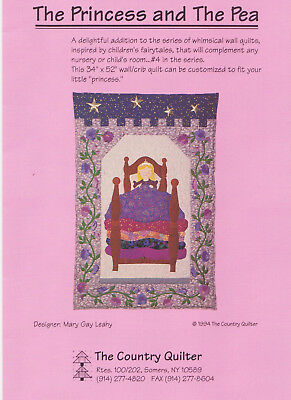 The Ptrincess and the Pea cot or wall quilt for a little girl