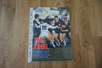Rugby World Cup programmes for all 8 finals - good to excellent condition