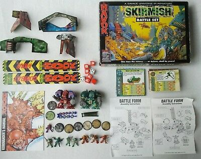 Complete Havok Skirmish Battle Set 1997 (with 2 large Robots) like Warhammer 40k