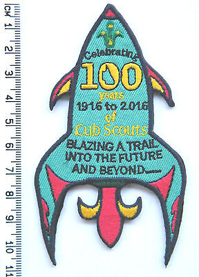CENTENARY 100 YEARS OF CUB SCOUTS, Rocket Scout Badge, Queensland Swap Badge