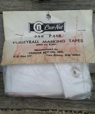 New Vintage Caro-Net Volleyball Marking Tapes for Net one pair 31401 Carron Net