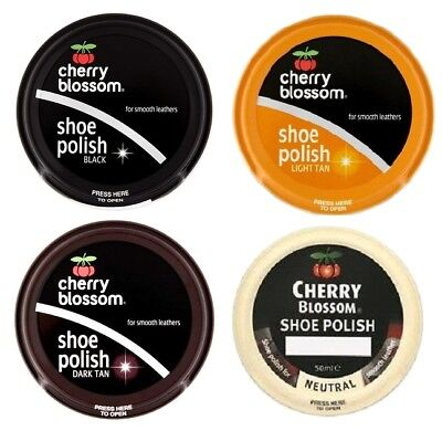 Cherry Blossom Traditional Shoe Polish Paste 50ml - Smooth Leathers - 4 Colours