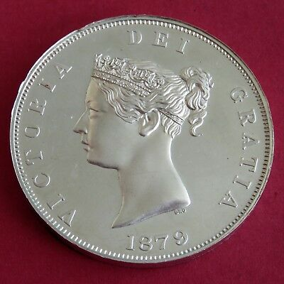 1879 Queen Victoria Silver Proof Pattern Crowned Shield Retro Crown