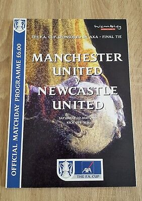 1999 FA Cup Final Manchester United v Newcastle United Programme *MINT*