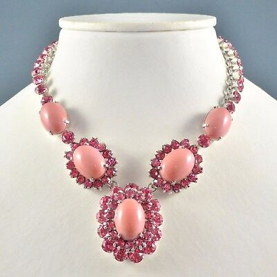 Vintage Necklace 1950s CHRISTIAN DIOR MITCHEL MAER Pink & Silvertone Jewellery
