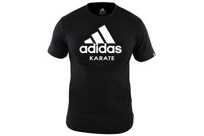 Adidas Karate T-Shirt Black Adults Martial Arts Training Team T-shirt