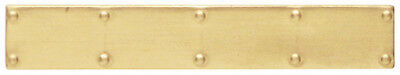 Brass Door Kick Plate, Miniature Dolls House Door Accessory 55mm Length