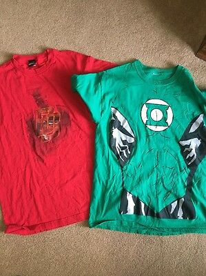 Super Hero Marvel t-shirts dare devil green lantern? Men's Large lot of 2
