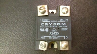Crydom A2425 Solid State Relay Panel Mount 25A  USED