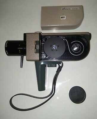 Chinon Facel 1950s Swiss made 8mm Vintage film movie Camera in Box & Lens Filter
