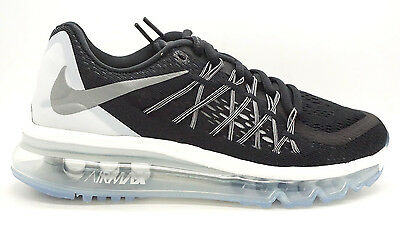 sports shoes 717ea b02fe  698903-001  Nike Air Max 2015 Wmns Womens Sneakers Nikeblack Relect Silver  Whit